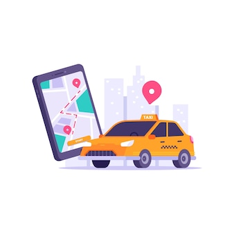 Taxi app stijl concept