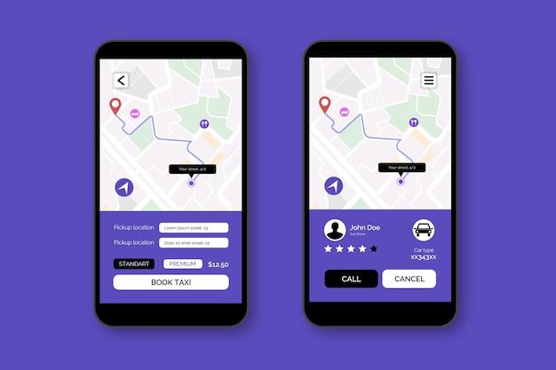 Taxi applicatie-interface ontwerp