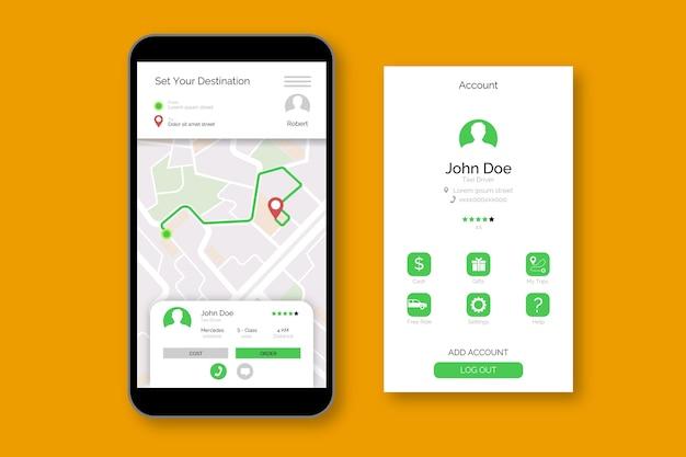 Taxi applicatie-interface