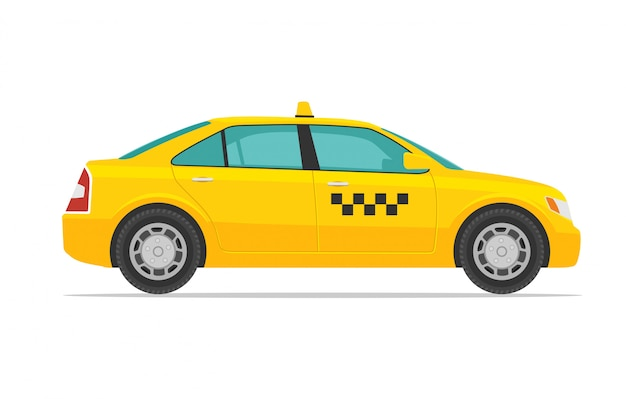 Taxi auto illustratie