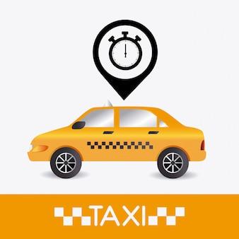 Taxi cabine ontwerp.