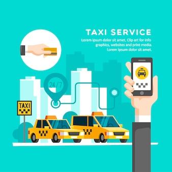 Taxi dienstverleningsconcept