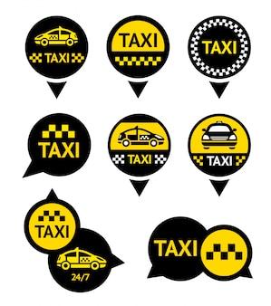 Taxi - emblemen ingesteld