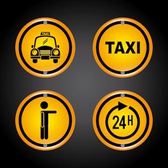 Taxi grafisch ontwerp