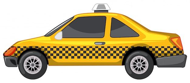 Taxi in gele kleur