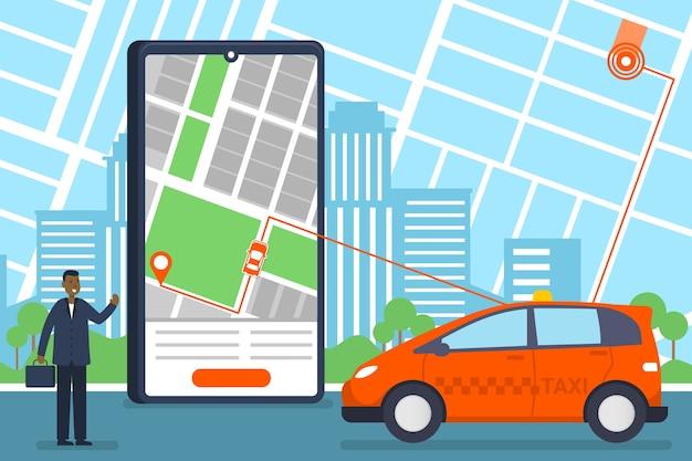 Taxi mobiele app-service