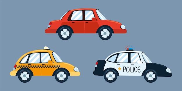 Taxi politie sedan auto's transportservice