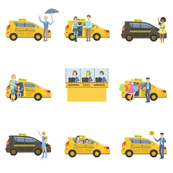 Taxi's, chauffeurs en klanten instellen