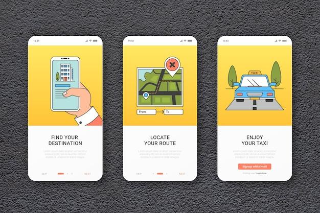 Taxi service onboarding app-sjabloon