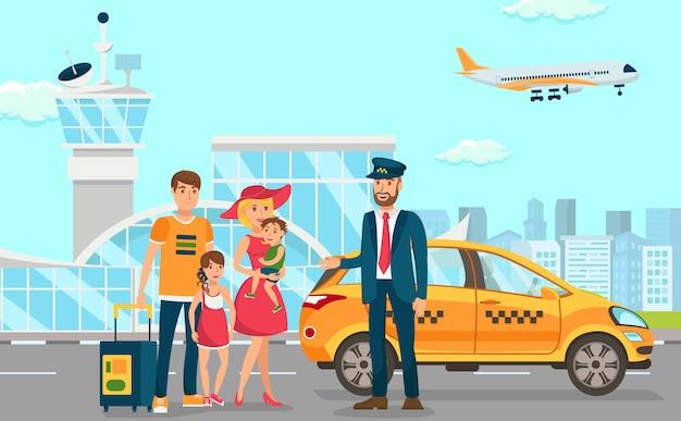 Taxidiensten op de luchthaven