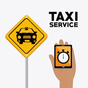 Taxidienstontwerp.