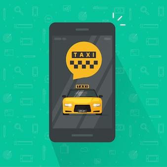 Taxiservice op mobiele telefoon of mobiel