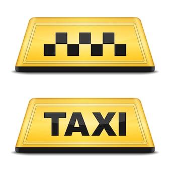 Taxiteken, vectoreps10-illustratie