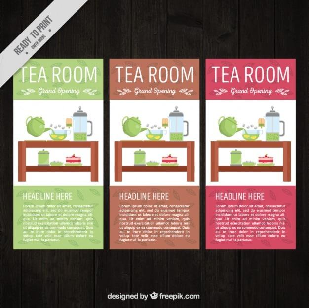 Tea room flyer collectie