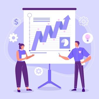 Team analyseert groeigrafieken