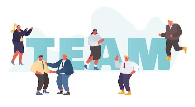 Team bedrijfsconcept.