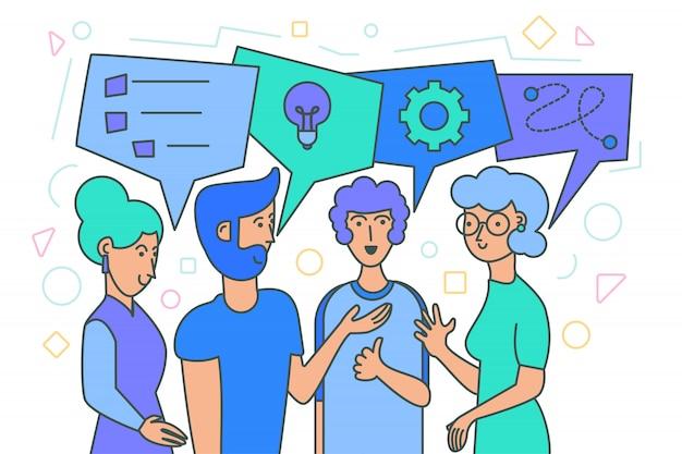 Team brainstorm, het genereren van ideeën