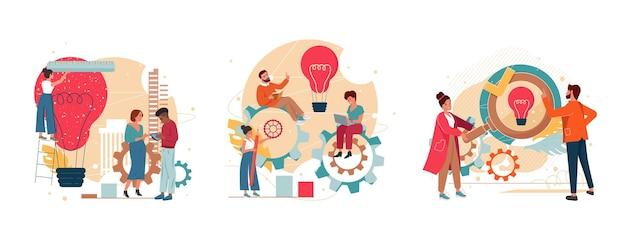 Team brainstormen creatief denken productontwikkeling