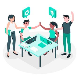 Team concept illustratie