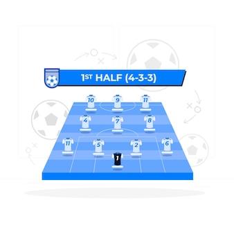 Team line-up concept illustratie