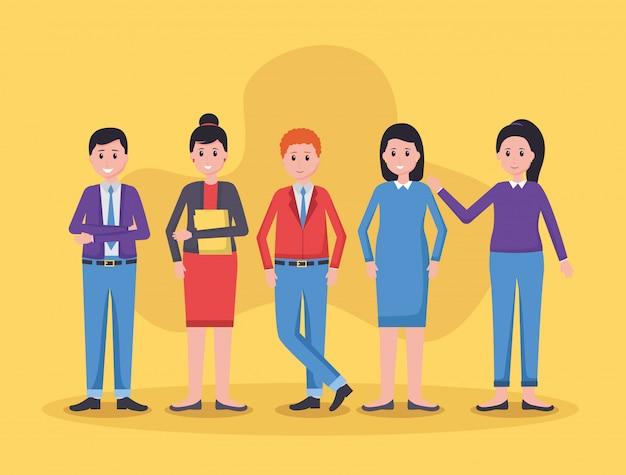 Team mensen kantoor