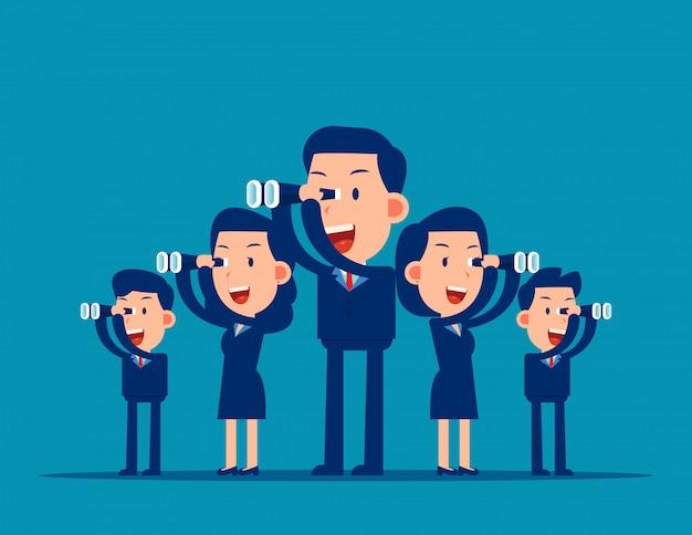 Team op zoek naar succes