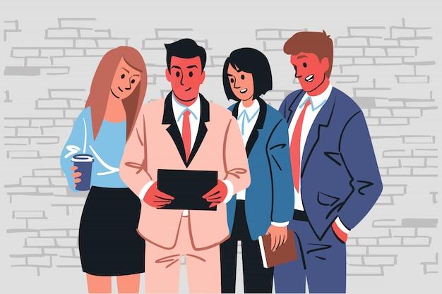 Team, pauze, samenwerking, vrije tijd, bedrijfsconcept