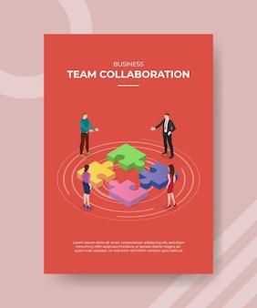 Team samenwerking concept