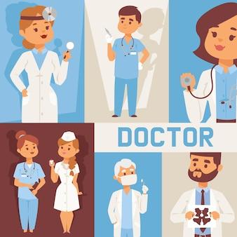 Team van artsen en andere ziekenhuismedewerkers met apparatuur.