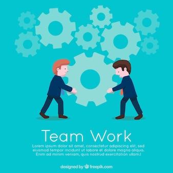 Team werk concept achtergrond met werkgevers