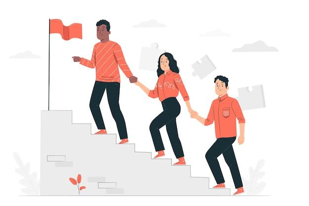 Team werk concept illustratie
