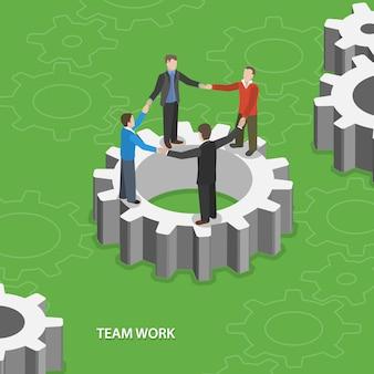 Team werk illustratie