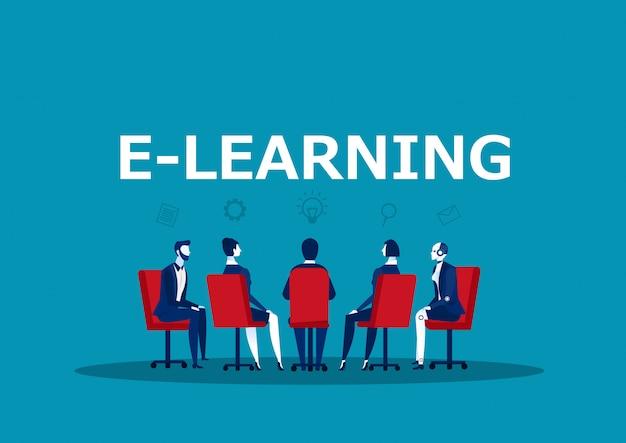 Team zakelijke bijeenkomst gor kennis online