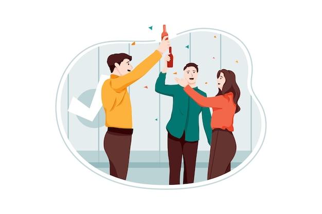 Teambuilding illustratie concept