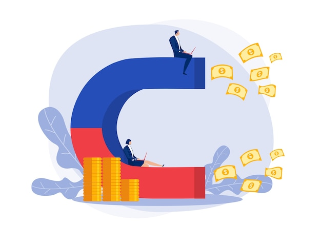 Teambusiness zit op magneet om geld aan te trekken