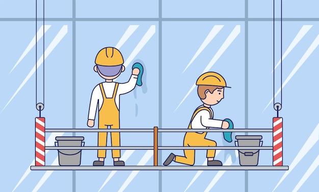 Teamconcept bouwen, schoonmaken en wassen