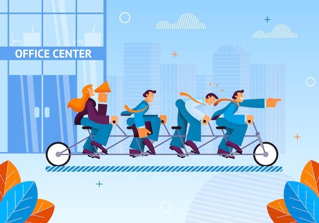 Teammanagers vertrokken naar business meeting office.