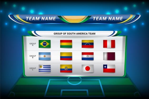 Teams van zuid-amerika voor voetbal