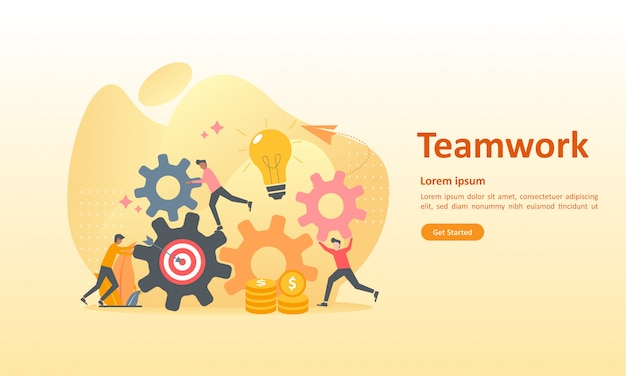 Teamwerk aansluitende uitrusting