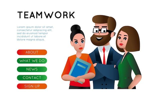 Teamwerk. bedrijfsmensengroepswerk, human resources, carrièremogelijkheden, teamvaardigheden, management, mensen die platte vectorillustratie verbinden voor websitebanner en bestemmingspagina. team metafoor.
