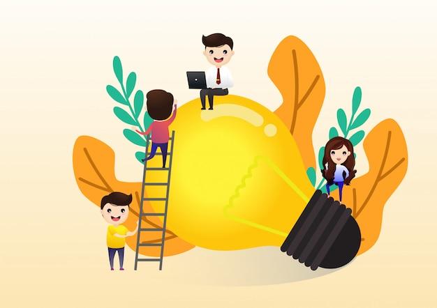 Teamwerk bij het vinden van nieuwe ideeën