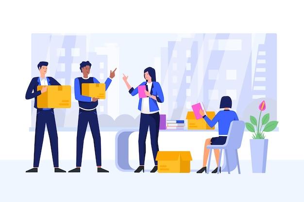 Teamwerk concept illustratie