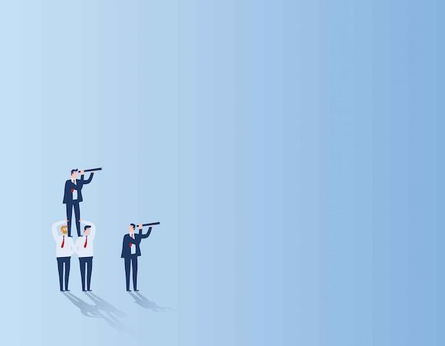 Teamwerk doel bedrijfsmensen concept