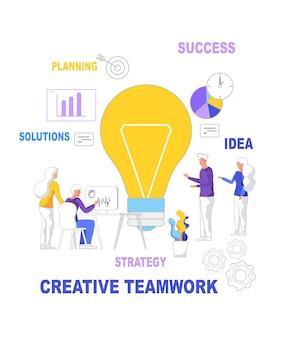 Teamwerk idee planning oplossingen successtrategie