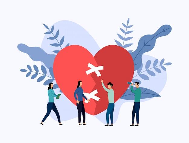 Teamwerk met een groot gebroken hart