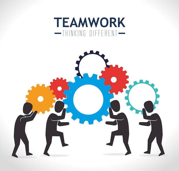 Teamwerk ontwerp, vectorillustratie.