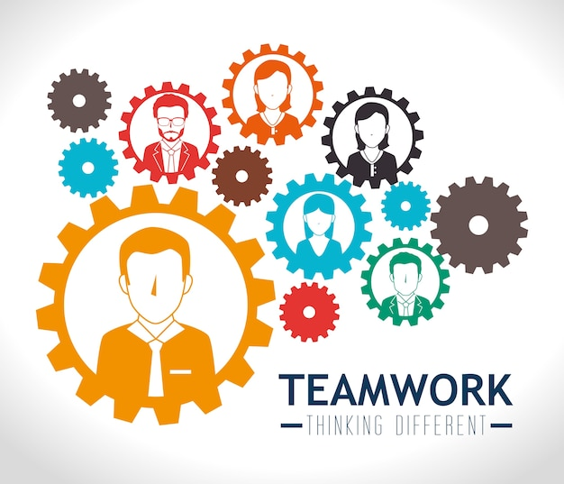 Teamwerk ontwerp.