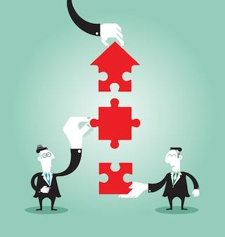 Teamwerk voor succesvol zakendoen