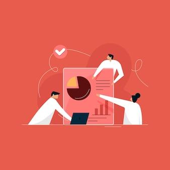Teamwerkstroombeheer, grafieken en diagrammen. bedrijfs- of persoonlijke financiële analyse. investeringen, online bankieren, handelen. presentatie van financiële rapportering