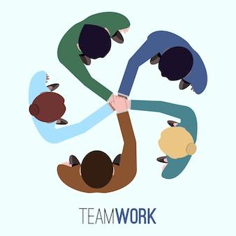 Teamwork achtergrond ontwerp